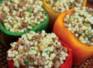 Lamb-Couscous Stuffed Peppers recipe