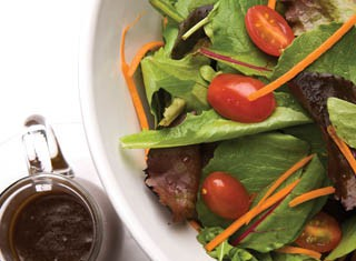 Fresh salad with homemade balsamic vinaigrette recipe