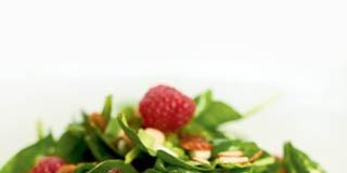 Spinach Salad with Raspberry Vinaigrette recipe