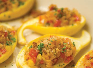 Garden Stuffed Squash recipe