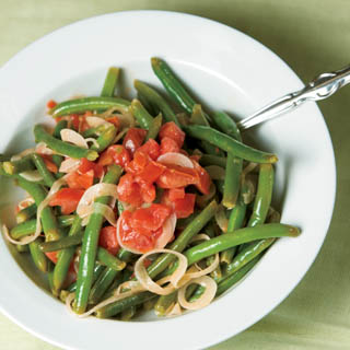 Green Bean, Tomato and Vidalia Onion Salad recipe