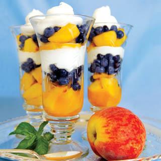 Colorful Peach Parfaits recipe