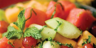 Fresh Fruit with Honey Lime Mint Dressing recipe