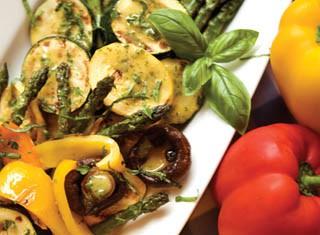 Grilled Vegetables with Basil Vinaigrette recipe