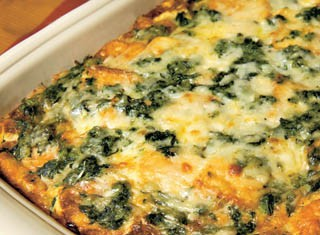 Breakfast Strata with Spinach and Swiss Cheese recipe
