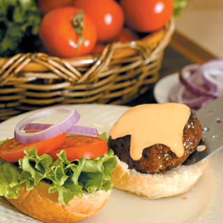 The Beef Classic Burger with Dijon Cheese Sauce recipe
