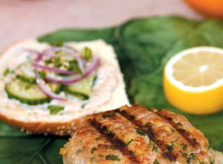 Thai Tuna Burger with Ginger-Lemon Mayonnaise recipe