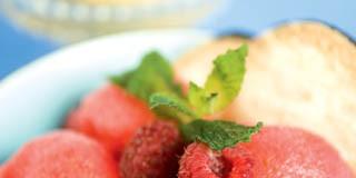 Watermelon & Raspberry Sorbet recipe