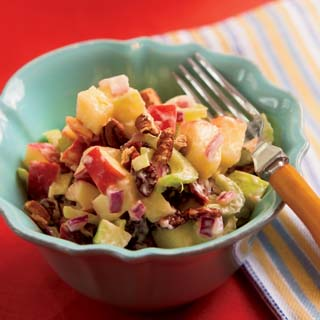 Apple Salad with Dried Cherries and Toasted Pecans
