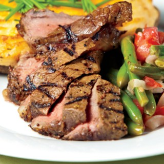 Grilled and Marinated New York Strip Steak