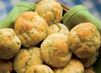 Rosemary Goat Cheese Muffins Recipe