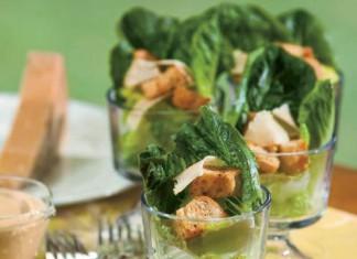 Creamy Caesar Salad in a Glass