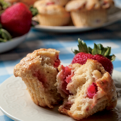 Fresh Strawberry Muffins Recipe | Farm Flavor