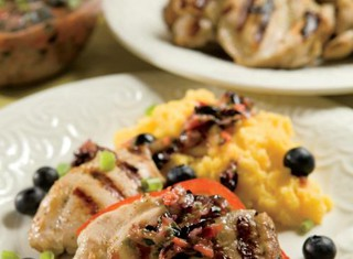 Grilled Chicken Thighs With Blueberry Salsa Recipe