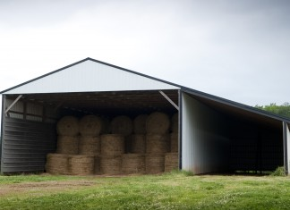 Grain Bins built with Ag Enhancement money