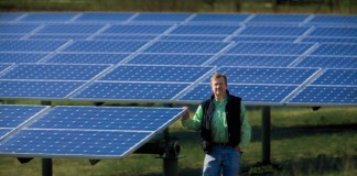 im Hitchcock uses solar panels to supplement the power at Day Lily Nursery in Rock Island