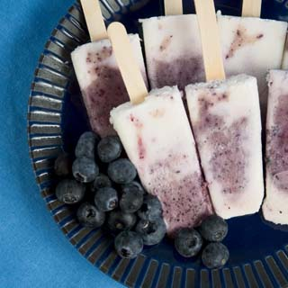 Blueberry Swirl Ice Pops Recipe