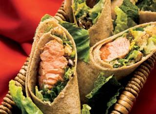 Salmon Caesar Wraps Recipe