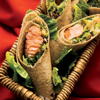 Salmon Caesar Wraps Recipe