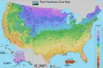 USDA gardening zone map