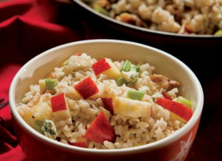 Brown Rice Salad with Pears, Walnuts and Gorgonzola Recipe