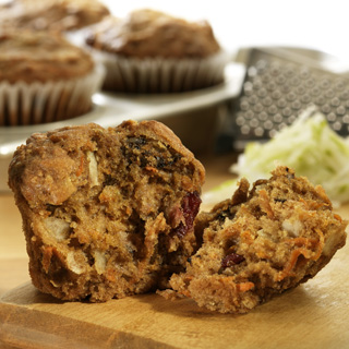 Pear-Carrot-Cranberry Muffins Recipe