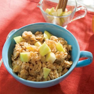 Try this homemade oatmeal recipe with apples, cinnamon and nutmeg, and ...