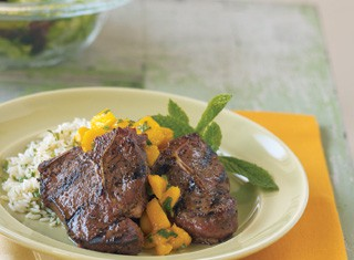 Grilled Lamb Chops with Mango Sauce Recipe