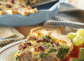 Sausage-Spinach Quiche Recipe