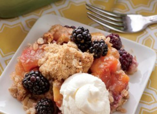 Blackberry and Peach Crisp