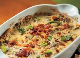 Warm Turnip Greens and Bacon Dip