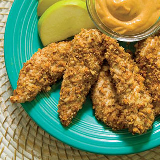 Pecan Crusted Cajun Chicken Fingers