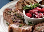 Lamb Chops with Berry Mint Sauce