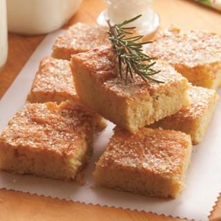 Triple Citrus Rosemary Almond Shortbread Bars