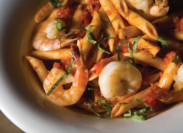 Shrimp and Fresh Tomato Pasta