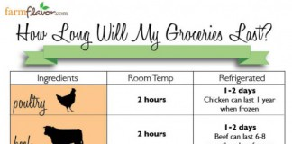 shelf life of food infographic