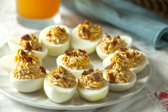 Chipotle Bacon Deviled Eggs