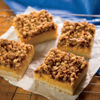 Pumpkin Hazelnut Bars Recipe