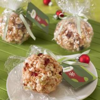 Cranberry Popcorn Balls