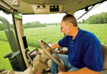 Chris Kummer's John Deer tractor with Agriculture Management Solutions
