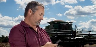 GPS guided combine Virginia