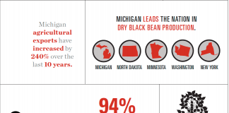 Michigan agriculture Infographic