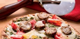 Grilled Sausage Pesto Pizza