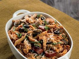 Mushroom and Black Olive Pasta Bake