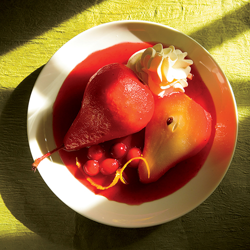 Cranberry Poached Pears Recipe