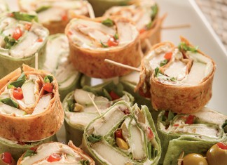 Tortilla Pinwheels with Goat Cheese