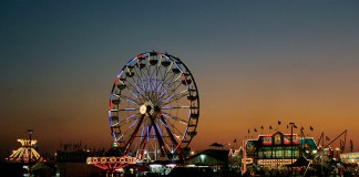 Evening view Georgia National Fair ferris wheel