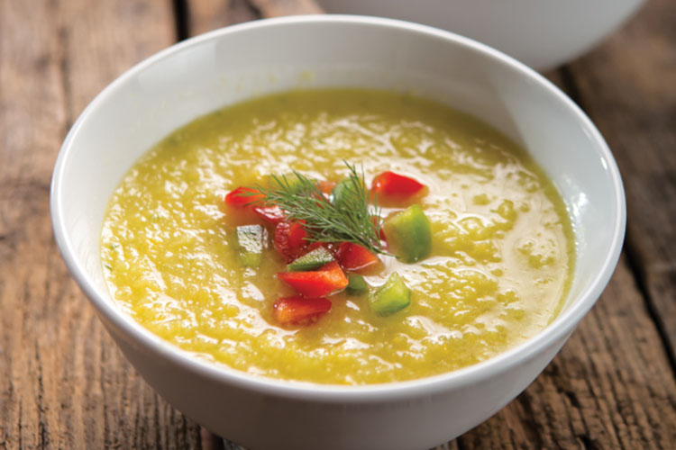 yellow tomato gazpacho