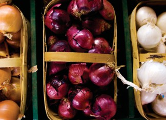 Onions, red onions, white onions, yellow onions