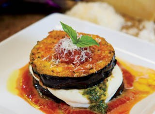 Eggplant, Mozzarella and Pesto Gratins recipe